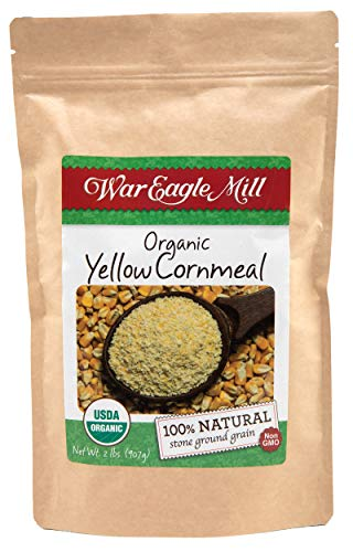 War Eagle Mill Yellow Cornmeal, Organic and non-GMO, stone-ground in the Ozarks (2 lbs)