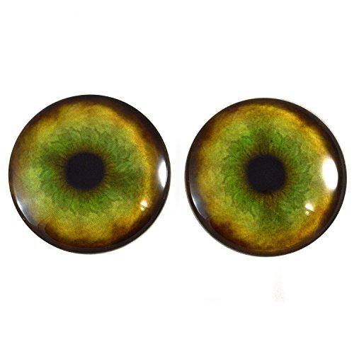 Par de ojos de cristal de tigre extragrandes de 40 mm, para hacer joyas, muecas, esculturas, ms