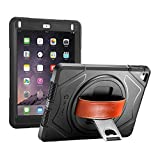 NEW TRENT iPad Case for iPad 6th Generation Cases, iPad Air 2 Case, iPad Air case, Full-Body Hand Strap iPad 5th Generation case with rotational Kickstand Built-in Screen Protector