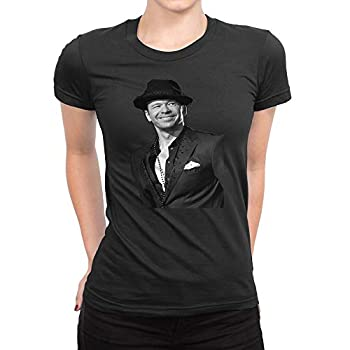 GOOD COME FROM Women s Donnie Wahlberg Short Sleeve T Shirt Black