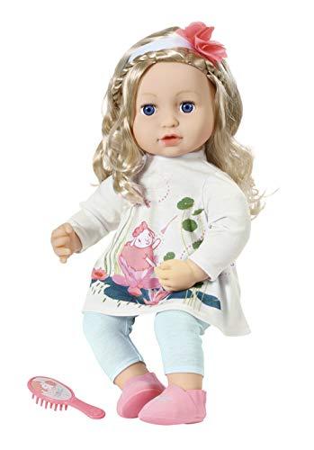 Zapf Creation 703014 Baby Annabell Sophia so Soft Puppe mit langen Haaren zum Stylen, 43 cm