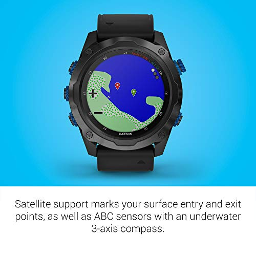 Garmin Descent Mk2i, Watch-Style Dive Computer with Air Integration, Multisport Training/Smart Features, Titanium with Black Band