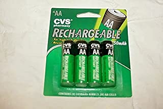 CVS Universal 2450 mAh Rechargeable AA Batteries (4 Count)