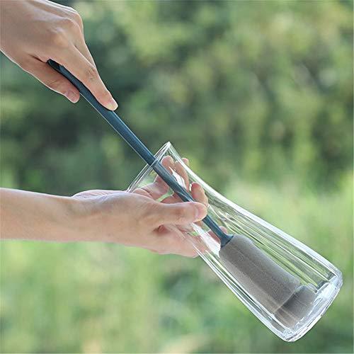 QINAIDI Lange Flaschenbürste, Haushaltsküchenschwammbürste, Glasbecher-Reinigungsbürste, mit Haken und Komfortgriff