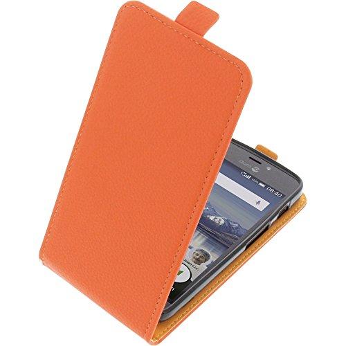 foto-kontor Tasche für Doro 8040 Smartphone Flipstyle Schutz Hülle orange