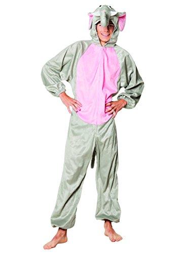 elefantino peluche Boland- Costume Tuta Peluche Elefantino per Adulti