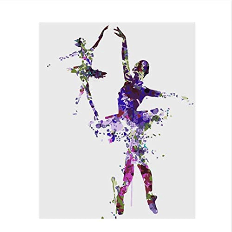 CZYYOU Bild Ballett Mädchen DIY Malen Nach Zahlen Bunte Bild Home Decor Für Wohnzimmer Hand Einzigartige Geschenke 40x50cm-Rahmenlos B07PF9YRHY | Ausgewählte Materialien