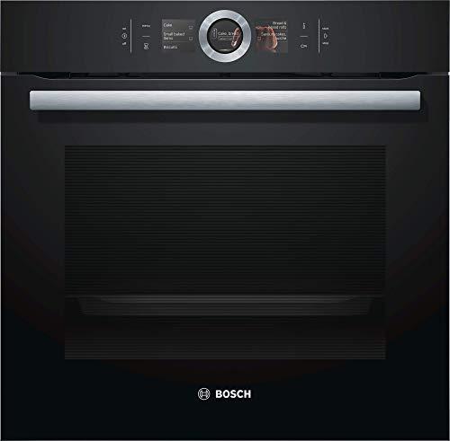 Bosch HBG676EB6 Serie 8 Einbau-Backofen / A+ / 71 L / Schwarz / Klapptür / TFT-Display / 13 Beheizungsarten / AutoPilot 10 / PerfectBake / PerfectRoast / 4D Heißluft / Home Connect