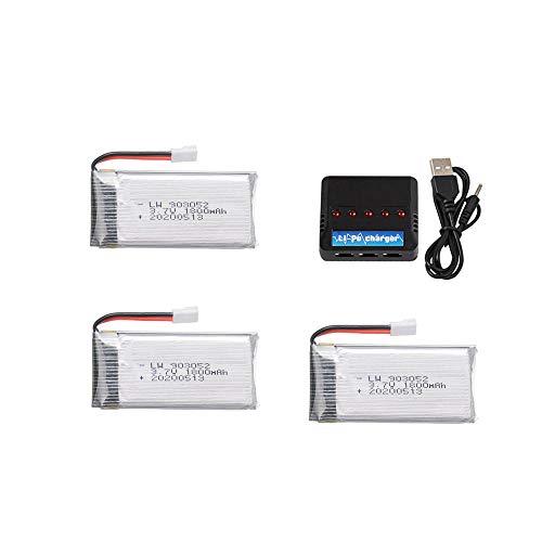 Actualice la batería lipo 1800mAh 3 7v y el juego de cargador 5 en 1 para KY601S SYMA X5 X5S X5C X5SC x5SH X5SW M18 H5P 3 7v Drone batería-CHINA_azul
