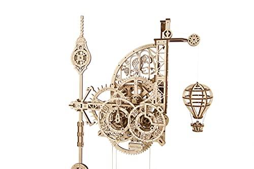 UGEARS Puzzle 3D de Reloj de Péndulo - El Aerorreloj - Aero Clock - Maquetas para montar de Relojes de Péndulo de Pared - Maquetas de madera mecánicas - Maquetas para construir para adultos y niños 8+