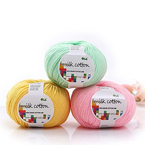 Zoomlie Juego de 6 rollos de 50 g/rollo de lana de bebé multicolor, de acrílico, varios colores,...
