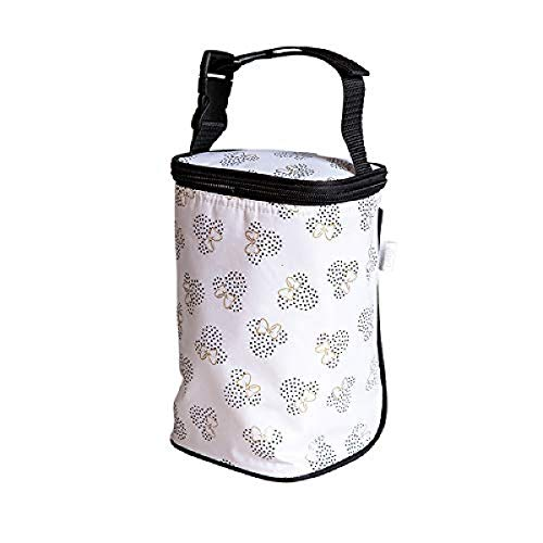 J.L. Childress Disney Baby by Tall Twocool Breastmilk Cooler, Baby Bottle & Baby Food Bag, Minnie White (0407DIS5)