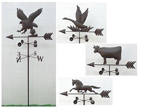 Windfahne, Wetterfahne mit Tiermotiv - L47xB21,5xH147 cm, verschiedene Motive