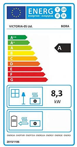 Victoria 05 – Estufa de leña (8,3 kW, diseño ecológico)