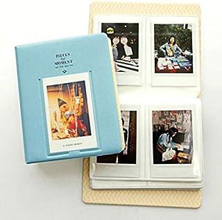 64 Pockets PVC Album Case almacenamiento foto Polaroid para Mini Fuji película Instax para tarjeta de crédito Tarjeta de identificación de tarjeta de banco Radom Color