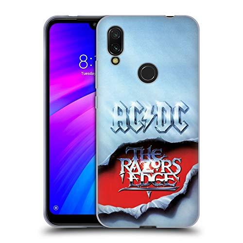 Officiële AC/DC ACDC De Rand van de scheermessen Album Kunst Soft Gel Case Compatibel voor Xiaomi Redmi 7 (2019)