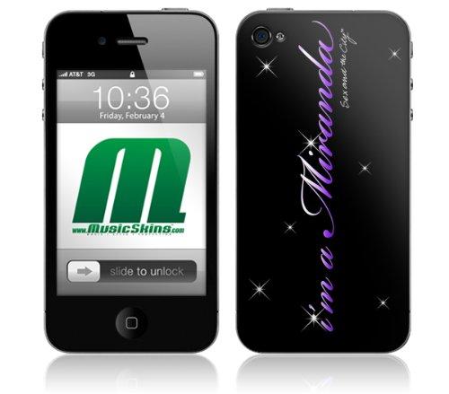 MusicSkins beschermfolie voor iPhone 4/4S (met het opschrift