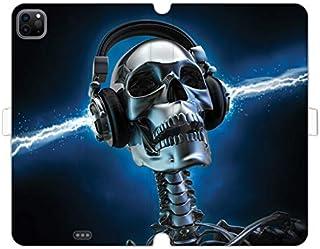 Etui na Apple iPad Pro 12.9 (2021) - etui na tablet Wallet Book Fantastic - szkielet ze słuchawkami - pokrowiec książkowy ...