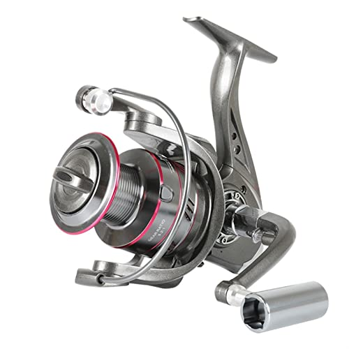 KSHOLK Carretes de Pesca,Carrete Spinning 1000-6000 Spinning Reel 5.2: 1 5-1 2kg MAX Drag Metal Treol Metal Knob Spinning Pesca Reel Rueda de Pesca Carrete de caña de Pescar