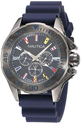 Nautica Reloj Analogico para Hombre de Cuarzo con Correa en Silicona NAPMIA008