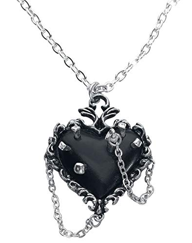 Alchemy Gothic Witches Heart Frauen Halskette silberfarben Hartzinn Basics, Everyday Goth, Gothic