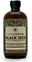 Black Seed Oil - Glass Bottle - 100% Pure and Cold Pressed - Imported Seed from India 16 OZ - Cold Pressed in NY - 100% Hexane Free - NON GMO, Vegan and Halal - Very Dark and Potent