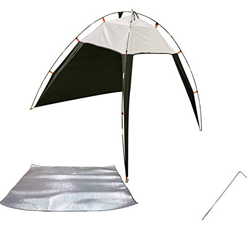 Luorizb Family Beach Tent and Sun Shade Cabana Shelter, Folding Instant Pop Up Tents, Portable Breathable, Broad Field of View for Camping Hiking Fishing (Color : B)
