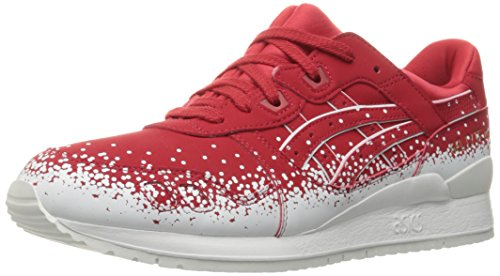 ASICS Men's Gel-Lyte III Fashion Sneaker, Red, 5 M US