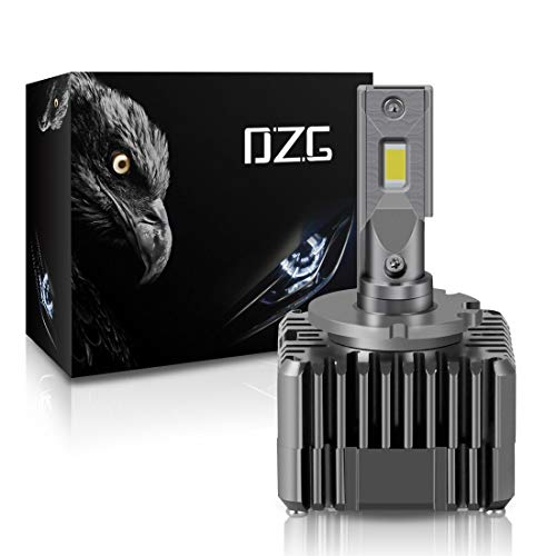 DZG D1S LED Bulb D3S LED Headlight Bulb D1R D3R LED Bulbs Conversion Kit 50W 6000K Bright White, 2 Yr Warranty, 1 Pack (1 Bulb)
