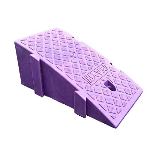 C-J-Xin Indoor Step-Matte, Kunststoff-Dreieck Pad Anti-Rutsch-Multifunktions beweglicher Schritt Rampen Motorrad-Fahrrad-Schwelle Rampen auffahrrampen (Color : Purple, Size : 25 * 44 * 19CM)