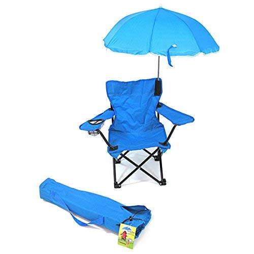 Redmon KIDS Umbrella Camping Chair with Matching Shoulder Bag, Light Blue