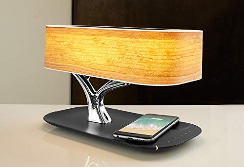 Sharper Image Bonsai Bluetooth Speaker Lamp with Wireless Charging Pad