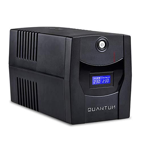 EPYC Quantum UPS con display, Gruppo di Continuità per PC, Potenza 1500VA/900Watt, Tecnologia Line Interactive, AVR, Nero (1500VA/900Watt)