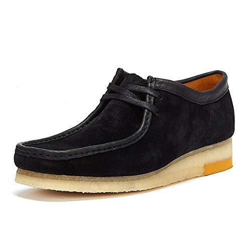 Clarks Wallabee Combi Mens zwarte schoenen-UK 10/EU 44.5