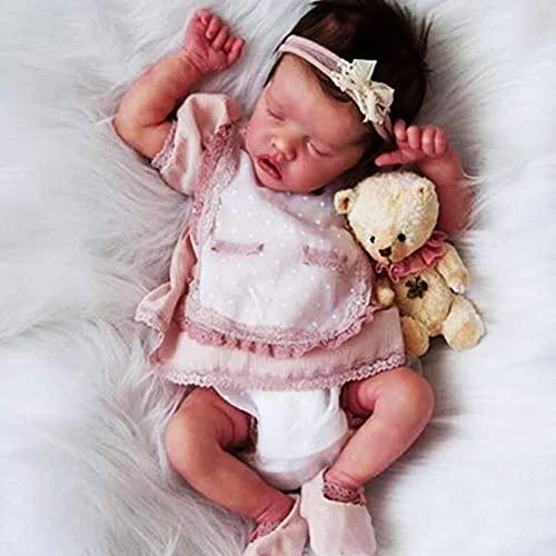 YANE Reborn Baby Dolls Girl 18Inch 46Cm Realistic Reborn Dolls Hecho A Mano De Silicona Suave De Cuerpo Completo Juguetes Realistas Reborn Toddler Birthday Gifts