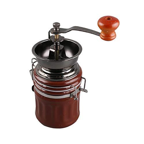 SXXYTCWL Molinillo de café manual Molinillo abierto de cerámica Mini Mini grosor ajustable portátil Molinillo de café de manivela de mano adecuado para el regalo de viaje de la familia de la oficina p