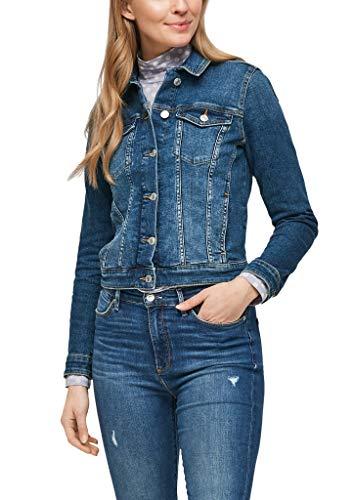 s.Oliver Damen Jeansjacke mit Waschung medium blue 40