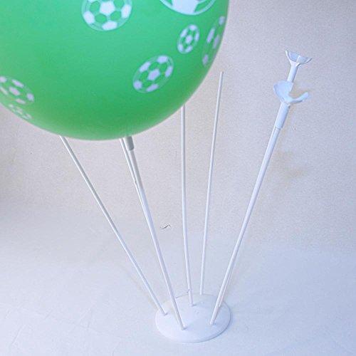 Socle Plastique 7 trous avec tiges pour Bouquet de Ballons Couleur Blanc