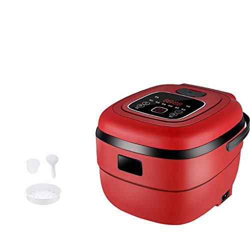 ELYQDDD 2.5L Intelligente elektrischer Reiskocher 220V Mini Dampfgarer Joghurt-Maschine Kuchen-Hersteller für 1-4 Personen 24H Termin Red 220V 220V