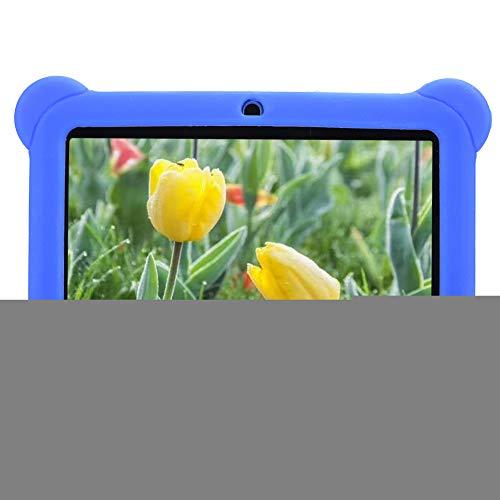 fuwinkr Tableta de 7 Pulgadas para niños, Tableta HD para niños con Cubierta Protectora de Silicona, Control Parental, Tableta de Aprendizaje de Cuatro núcleos 1 + 8G para niños Niños(Nos)
