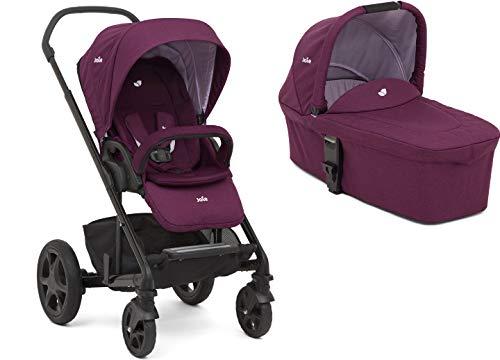 Joie Chrome DLX Kombikinderwagen 2in1 Set Inklusive Babywanne (Dahlia)