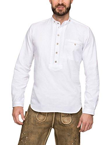 Stockerpoint Herren Renus2 Trachtenhemd, Weiß (Weiß), Large