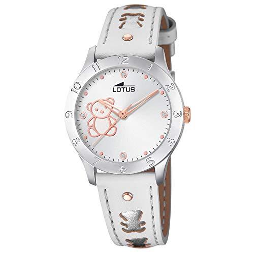 Lotus Junior - Reloj Analógico para Niñas, de Cuarzo con Correa en Cuero