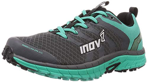 Inov-8 Womens Parkclaw 275 GTX - Waterproof Trail Running Shoes - Wide Toe Box - Versatile Shoe for Road and Light Trails - Grey/Teal 6.5 W US