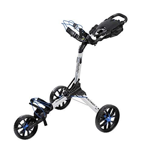 Bag Boy Push Cart Einkaufstrolley mit 3 Rädern, Nitron, Weiß, für Erwachsene, Unisex, Einheitsgröße