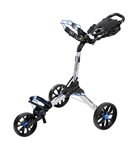 Bag Boy Push Cart Chariot 3 Roues Nitron Blanc Cobalt Adulte...