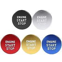 アルミカーエンジンスタートストップボタンイグニッションキーカバートリム、カローラC-HRRAV4ヤリスオートインテリアデコラティブ用