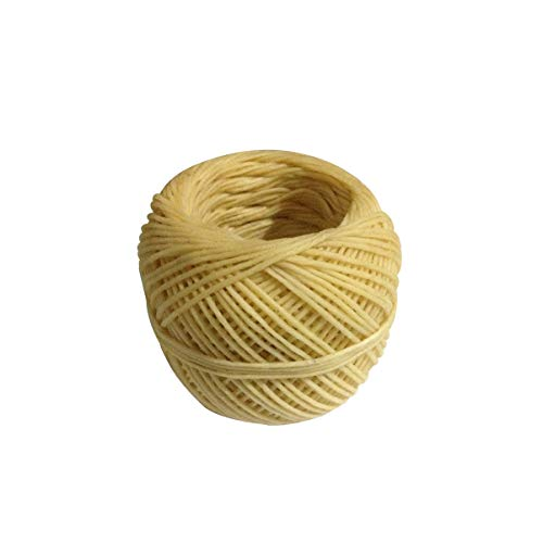 Healifty Beeswax Hemp Wick 200 ft Spool Organic Hemp Wick Well Coated with Natural Beeswax Slow Burning Long-Lasting No Dripping For DIY Candle Making Tapers Tea Lights Votives
