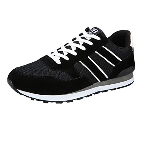EUZeo_Schuhe EUZeo Herren Lässige Core Sneaker Leichtgewicht Freizeitschuhe Männer Atmungsaktiv Schnürer Sneakers Foundation Laufschuhe Turnschuhe Sportschuhe Walkingschuhe Leichtgewicht Running Fitness