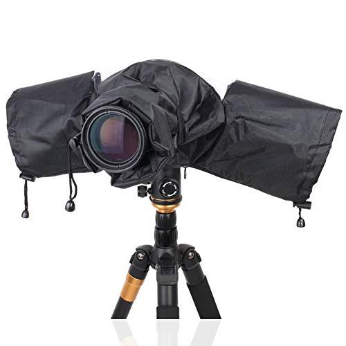 Copertura Antipioggia per Fotocamera, Copertura Parapioggia per Fotocamera Digitale Reflex, per Canon, Nikon, Sony, Pentax, Sigma (Nero)